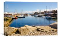 Lossiemouth Habour in summer, Canvas Print