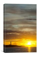 Sunset at lossiemouth lighthouse, Canvas Print
