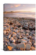 sunset on lossiemouth west beach, Canvas Print