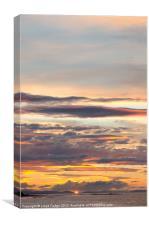 Sunset on scottish beach, Canvas Print