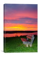 sunrise at beach, Canvas Print