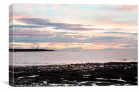 Late evening sunset in Lossiemouth, Canvas Print