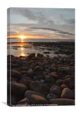 sunset over Lossiemouth beach, Canvas Print