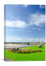 lossiemouth beach front in summer, Canvas Print