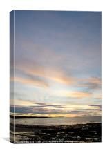 late evening over looking the moray forth, Canvas Print