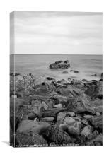 long exposure beach print, Canvas Print