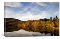 Loch Faskally Autum, Canvas Print