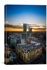 Manchester Skyline, Canvas Print