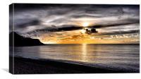 Dorset Sunset, Canvas Print