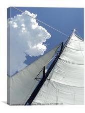 Sailing in the Sun, Canvas Print