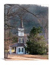 The Church in the Woods, Canvas Print