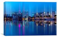 Docklands in motion, Canvas Print