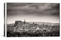 Views across Edinburgh, Canvas Print