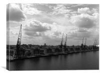 Dockside, Canvas Print