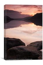 Dawn over Ullswater, Canvas Print