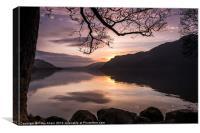 Sunrise Over Ullswater, Canvas Print