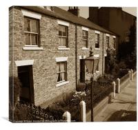 Old Fashioned Street, Canvas Print
