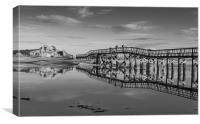 Lossie Bridge, Canvas Print