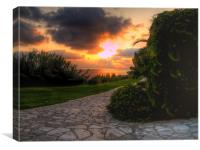 cyprus sunset, Canvas Print