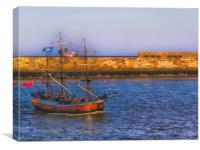 whitby tall ship, Canvas Print