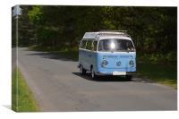 Classic VW Campervan, Canvas Print