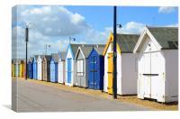Felixstowe Beach Huts, Canvas Print