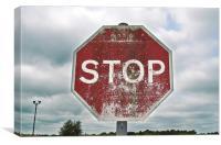 STOP!, Canvas Print