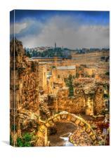 Jerusalems Old City, Canvas Print