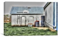 Old Barneys Barn, Canvas Print