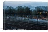 Running train, Canvas Print