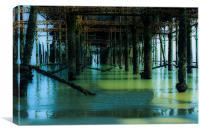 Under Hastings Pier, Canvas Print