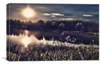 Suns rays reflection, Canvas Print