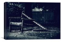 Bench Leftovers, Canvas Print