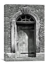 Rustic Door at Dunham Massey, Canvas Print