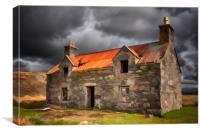 Old House at Callanish, Canvas Print