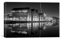 Gloucester Docks Night, Canvas Print