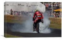 Motorcycle Burnout, Canvas Print