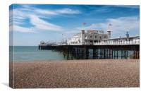Brighton, Beach and Peer, Canvas Print