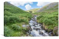 River Caldew running between the fells, Canvas Print