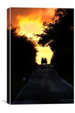County Roads Sunset, Canvas Print