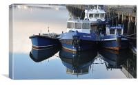 Sally & Vera - the Belfast Tugs, Canvas Print