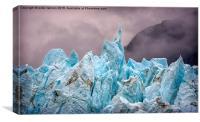 Glacier Bay Blue, Canvas Print