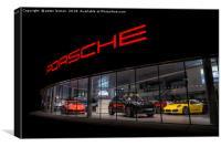 Porsche by name, Porsche by nature, Canvas Print