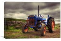 Fordson Super Dexta Tractor, Canvas Print