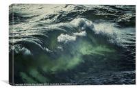 Inner Glow Of Ocean Wave, Canvas Print
