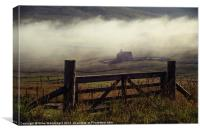 Church In Mist, Quarff, Shetland., Canvas Print