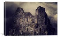 Scalloway Castle, Shetland., Canvas Print