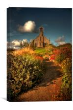 Weisdale Church, Shetland, Canvas Print