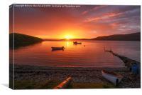 Sunset At Trondra, Shetland., Canvas Print