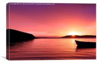 Boat Resting In The Sunset, Canvas Print
